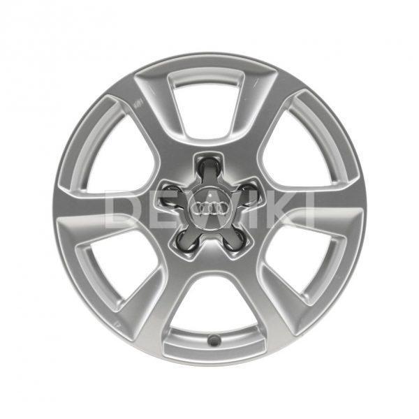 Алюминиевый литой диск R16 в 6-спицевом дизайне Audi, Brilliant Silver,  7,5J x 16 ET45
