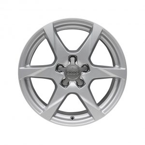 Алюминиевый литой диск R17 в 6-спицевом дизайне Audi, Brilliant Silver, 7,5J x 17 ET45