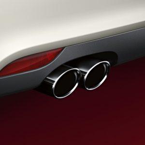 Спортивные насадки на выхлопную трубу  Audi A1 / A3 (8P), для автомобилей с левой двойной выхлопной трубой, серебристо-хромированные
