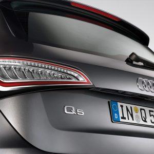 Светодиодные задние фонари Audi Q5 с 2012 года, прозрачное стекло
