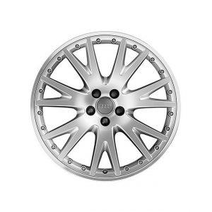 Алюминиевый литой диск R20 дизайн 7 V-образнх спиц Audi, Brilliant Silver, 8,5J x 20 ET33