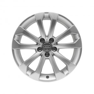 Алюминиевый литой диск R18 дизайн 5 V-образных Audi, Brilliant Silver, 8J x 18 ET39