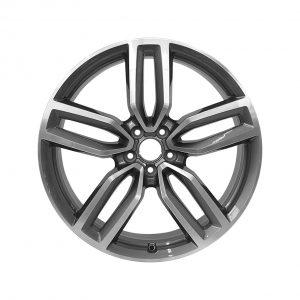 Алюминиевый литой диск R21 дизайн 5 двойных спиц Audi, Grey / Polished, 8,5J x 21 ET33