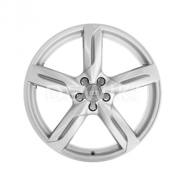 Алюминиевый литой диск R20 в 5-спицевом дизайне Audi, Brilliant Silver, 8,5J x 20 ET33