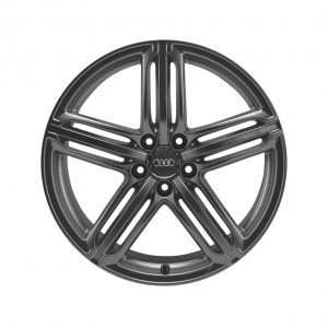 Алюминиевый литой диск R20 дизайн 5 сегментных спиц Audi, Matt Titanium, 8,5J x 20 ET33