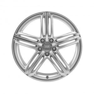 Алюминиевый литой диск R20 дизайн 5 сегментных спиц Audi, Brilliant Silver, 8,5J x 20 ET33