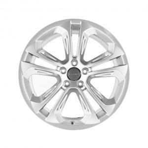 Алюминиевый литой диск R20 дизайн 5 двойных спиц Audi, Brilliant Silver, 8,5J x 20 ET33