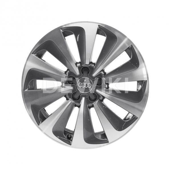 Алюминиевый литой диск R19 в 10-спицевом дизайне Audi, Anthracite / Brilliant Silver, 8,0J x 19 ET39