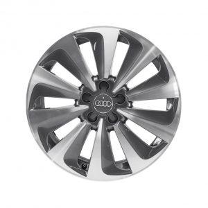 Алюминиевый литой диск R20 в 10-спицевом дизайне Audi, Anthracite / Brilliant Silver, 8,5J x 20 ET33