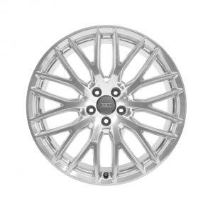 Алюминиевый литой диск R20 в дизайн 10 Y-образных спиц Audi, Brilliant Silver, 8,5J x 20 ET33