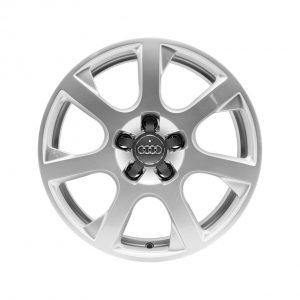 Алюминиевый литой диск R17 в 7-спицевом дизайне Audi, Brilliant Silver, 7,0J x 17 ET37