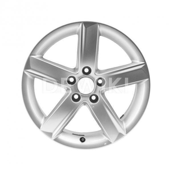 Алюминиевый литой диск R17 в 5-спицевом дизайне Audi, Brilliant Silver, 7,5J x 17 ET28