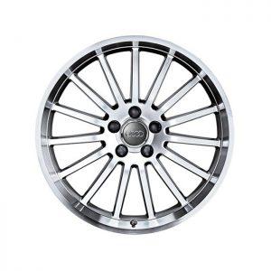 Алюминиевый литой диск R19 в 15-спицевом дизайне Audi, Anthracite / Brilliant Silver, 9J x 19 ET33