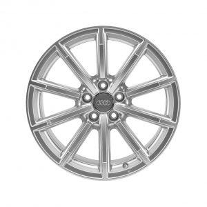 Алюминиевый литой диск R18 в 10-спицевом дизайне Audi, Brilliant Silver, 8,5J x 18 ET29