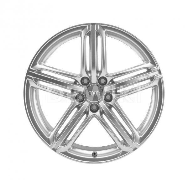 Алюминиевый литой диск R19 дизайн 5 сегментных спиц Audi, Brilliant Silver, 9,0J x 19 ET33