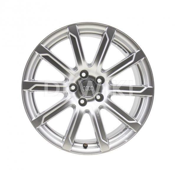 Алюминиевый литой диск R18 в 10-спицевом дизайне Audi, Silver, 8,5J x 18 ET29