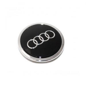 Колпачок ступицы колеса Audi, черный блестящий