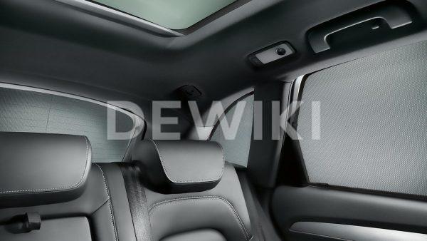 Солнцезащитные шторки Audi Q3 (8U), для задних боковых стекол и заднего стекла