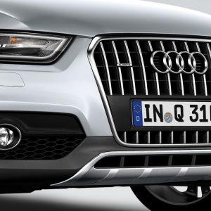 Передний спойлер Offroad Audi Q3 (8U), с защитным брусом из нержавеющей стали