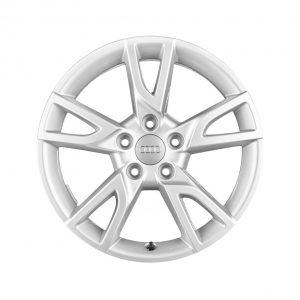Алюминиевый литой диск R17 дизайн 5 Y-образных спиц Audi, Brilliant Silver, 6,5 J x 17 ET33