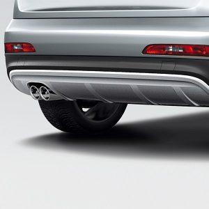 Накладка на бампер задний Audi Q3 (8U), для автомобилей без системы помощи при парковке, без парковочного ассистента и без AHV