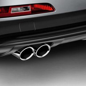 Спортивные насадки на выхлопную трубу Audi Q3, для автомобилей с левой двойной выхлопной трубой, для 4 цилиндров