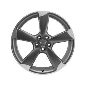 Алюминиевый литой диск R20 роторный дизайн 5 спиц Audi, Titanium, 8,5J x 20 ET36