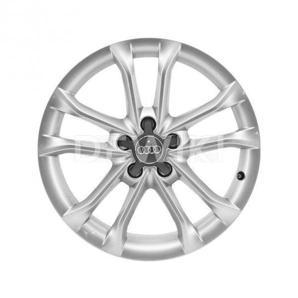 Алюминиевый литой диск R18 дизайне 5 двойных спиц Audi, Silver, 7,0J x 18 ET43