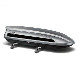 Бокс для лыж и багажа Audi, цвет «серая платина» с боковой накладкой «черный бриллиант», 300 литров