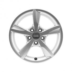 Алюминиевый литой диск R16 в 5-спицевом дизайне Audi, Brilliant Silver, 6,0J x 16 ET48