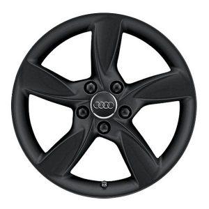 Алюминиевый литой диск R17 в 5-спицевом дизайне Audi, Matt Black, 6,0J x 17 ET48