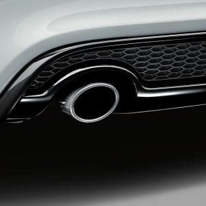 Спортивная насадка на выхлопную трубу Audi A3 (8V), для автомобилей с левой одинарной выхлопной трубой