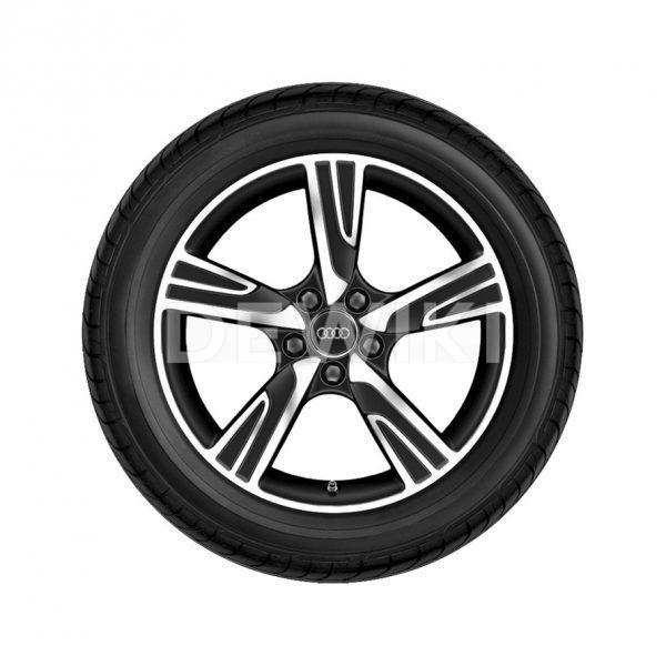 Летнее колесо в сборе Audi A3, Matt black / High-gloss, 225/40 R18 92Y XL, 7,5 J x 18 ET51