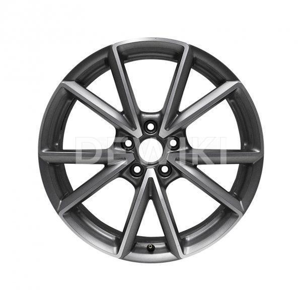 Алюминиевый литой диск R19 дизайн 5 V-образных спиц Audi, Titanium, 8,0J x 19 ET49