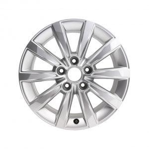 Алюминиевый литой диск R16 в 10-спицевом дизайне Audi, Brilliant Silver, 6,5J x 16 ET40
