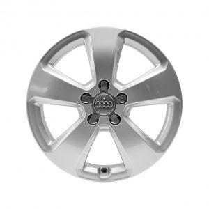 Алюминиевый литой диск R17 в 5-спицевом дизайне Audi, Brilliant Silver, 7,5 J x 17 ET51