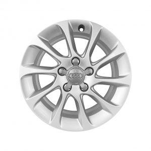 Алюминиевый литой диск R16 в 10-спицевом дизайне Audi, Brilliant Silver, 6,5J x 16 ET46