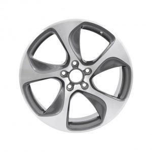 Алюминиевый литой диск R18 в 5-спицевом дизайне Audi, Silver /  Anthracite, 7,5J x 18 ET51