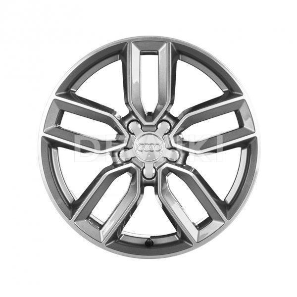 Алюминиевый литой диск R18 дизайн 5 двойных спиц Audi, Anthracite, 7,5J x 18 ET51