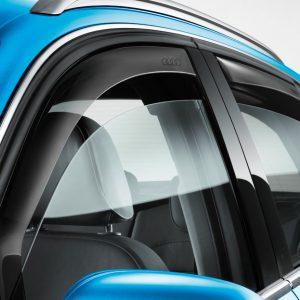 Дефлекторы на двери Audi А3 (8V), передние, для автомобилей с хромированными накладками шахты стекла