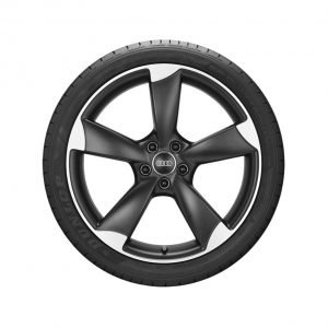 Летнее колесо в сборе Audi A3, Matt black / High-gloss, 225/40 R18 92Y XL, 8J x 18 ET 46