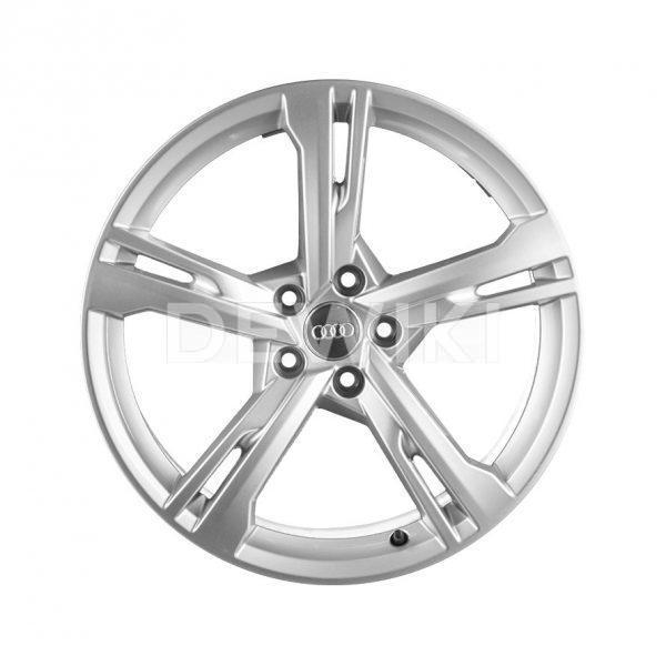 Алюминиевый литой диск R19 в 5-спицевом дизайне Audi, Brilliant Silver, 8,5J x 19 ET32