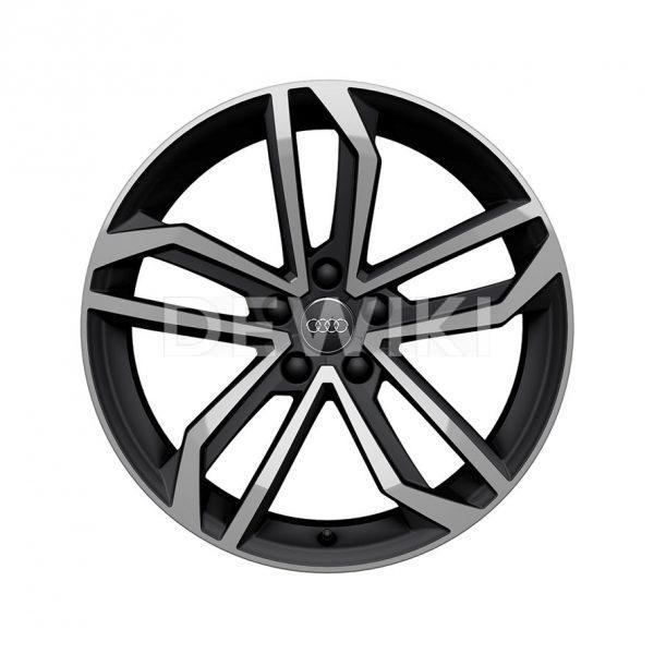 Алюминиевый литой диск R19 в 5-спицевом дизайне Sidus Audi, Matt Black / Polished, 8,5J x 19 ET40