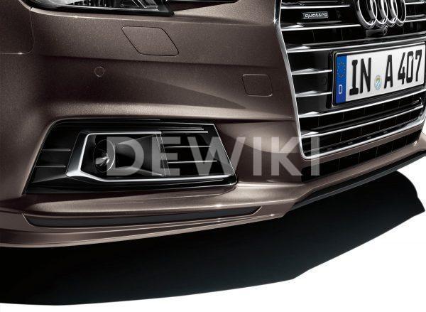 Передний спойлер с накладкой Audi A4 (8W/B9)