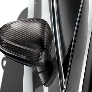 Карбоновые корпуса наружных зеркал заднего вида Audi A4 / S4 / RS4 / A5 / S5 / RS5, для автомобилей с Audi side assist