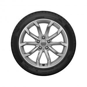 Летнее колесо в сборе Audi A4, Brilliant silver, 245/40 R18 97Y XL, 8J x 18 ET40
