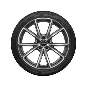 Летнее колесо в сборе Audi A4/S4, Matt titanium high-gloss, 245/35 R19 93Y XL, 8,5J x 19 ET40