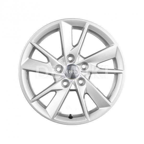 Алюминиевый литой диск R16 с 5 гранеными спицами Audi, Brilliant Silver, 7,0J x 16 ET35