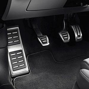 Накладки на педали Audi A4 (8W/B9), A5 (T5/B9), для МКПП с опорой для ноги