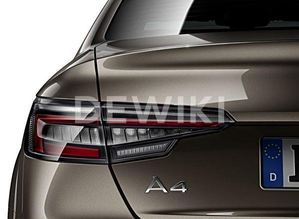 Светодиодные задние фонари Audi A4 / S4 Limousine (8W/B9), матовые